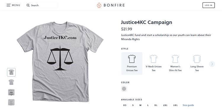 Justice4KC T-shirt Campaign